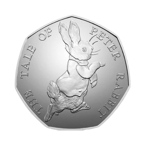 Peter Rabbit 50p Coin 2017 edition