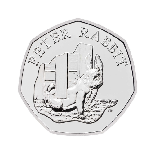 Peter Rabbit 50p Coin 2020 edition